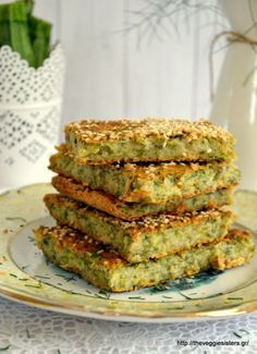 Vegan μπατζίνα - The Veggie Sisters Good Healthy Recipes, Vegetarian Recipes, Snack Recipes, Cooking Recipes, Vegan Finger Foods, Vegetable Lasagne, Zucchini Pie, Unprocessed Food, Cooking On A Budget