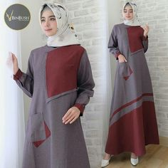 Abaya Fashion, Muslim Fashion, Modest Fashion, Fashion Dresses, Batik Muslim, Muslim Gown, Kurti Sleeves Design, Dress Anak, Hijab Dress