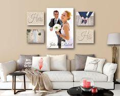 Items similar to Wedding Vow Photo Canvas Display Set of One AND Four Wedding Photo Canvas Display, Wedding Vow Art Collage Display Canvas on Etsy Wedding Vow Art, Wedding Canvas, Wedding Wall, Canvas Wedding Pictures, Wedding Photos, Gift Wedding, Bridal Pics, Our Wedding, Wedding Rings