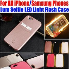 Selfie  Light up LED Case for iPhone or Samsung only $10
