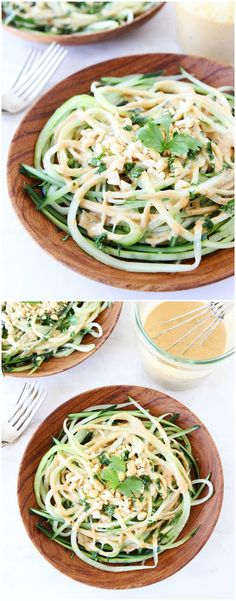 Cucumber Noodles with Peanut Sauce Recipe on twopeasandtheirpod.com Love these healthy noodles and the peanut sauce is amazing!