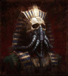 """Archon"" - sci-fi concept by Joakim Ericsson Arte Sci Fi, Sci Fi Art, Dark Fantasy Art, Art Sombre, Dark Artwork, Arte Cyberpunk, Psy Art, Egypt Art, Illustration"