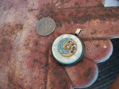 beautiful vintage button pendant gray and by Suddendeersighting, $21.00