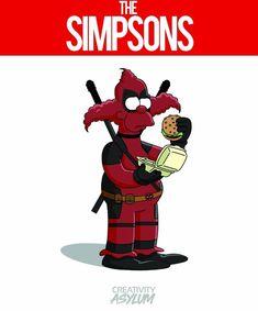 Krusty the Clown x Deadpool, The Simpsons