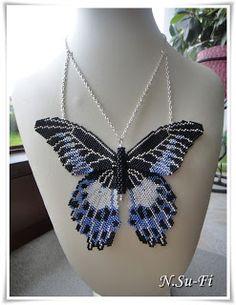 "Biżuteria od N.Su-Fi: Wisior ""Motyl"""