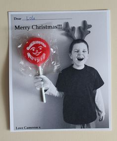 Lollipop Christmas card