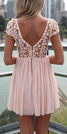 Pink crochet top dress