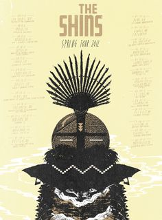 THE SHINS spring tour poster edition of 100