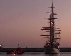Four mast barque Sea Cloud leaves Motril  - CLICK ON THE PICTURE TO WATCH THE VIDEO Video Clip, Leaves, Clouds, Sea, Watch, Pictures, Photos, Clock, Ocean