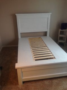 Ana white build a farmhouse storage bed with drawers for Farmhouse bed frame plans