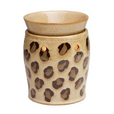 Leopard Scentsy Warmer - Let your frisky personal style prowl through your home by vamping up your decor with our new Leopard Deluxe Scentsy Warmer. Its golden tan base is covered with wild leopard spots, creating a look that is primal, seductive, and undeniably bold.