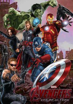 #Avengers #Fan #Art. (AVENGERS: AGE OF ULTRON POSTER)  By: BruceBTonyS. ÅWESOMENESS!!!™ ÅÅÅ+