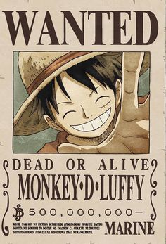 Monkey D. Luffy (Strawhat Pirates, Captain) Bounty Poster