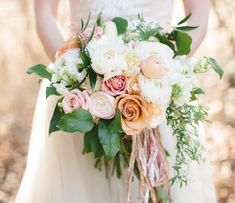 lush rose, ranunculus and peony bouquet by Oleander Botanicals Vintage Bridal Bouquet, Bridal Flowers, Flower Bouquet Wedding, Pink Rose Bouquet, Ribbon Bouquet, Spring Wedding, Dream Wedding, Wedding Day, Wedding Shoes