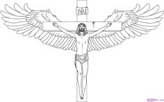 jesus cross drawing drawings draw cool sketch step crosses simple sketches cliparts pencil easy tattoo christ steps template coloring library