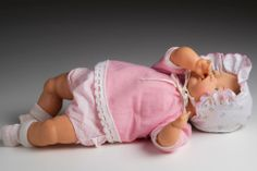 Vintage 1960's Thumbelina baby doll by Ideal, 14-inches