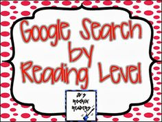 Research- How Kids can Research by Reading Level