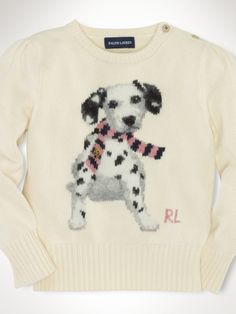 Ralph Lauren have gone big on dog intarsia this Autumn