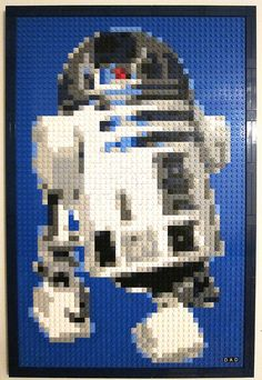 Lego R2D2 mosaic.  Super cool.
