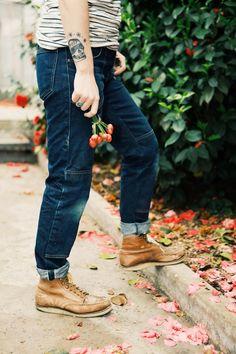 Slim Slouch Dungaree - Gamine Workwear Denim