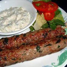 Lamb Kofta Kebabs - made as meatballs, broiled. Tasty.  Good with tzatziki.  April 2014