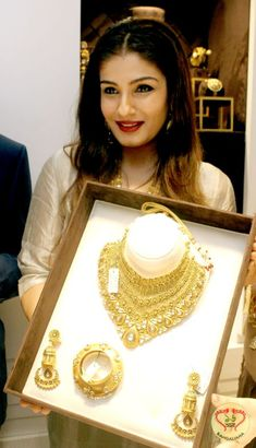 Hallmark Ornaments launched their flagship store titled Avama Jewellery in the presence of Bollywood actress Raveena Tandon, Abhishek Kajaria and others.