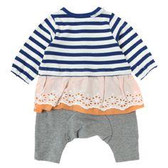 レーススカートボーダーカバーオール - baby ampersand(ベビーアンパサンド)|子供服通販のF.O.Online Store