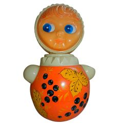 Ancien jouet culbuto - vintage 60s russian roly poly toy doll