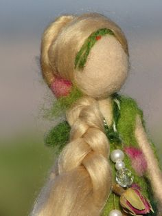 Needle felted rose's doll waldorf inspired by Made4uByMagic