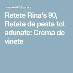 Retete Rina's 90, Retete de peste tot adunate: Crema de vinete Blog, Blogging