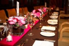 brown and pink decor