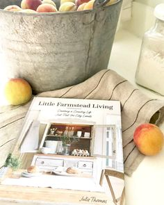 Early Fall at the Farmhouse — Little Farmstead Apple Baskets, Large Baskets, Julie Thomas, Fall Friends, Fall Vignettes, Carriage Doors, Linen Towels, Early Fall, Craft Shop