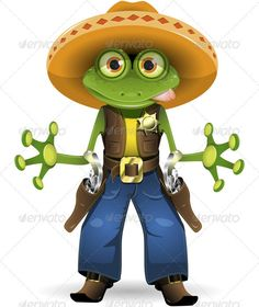 Graphic River Frog sheriff Vectors -  Characters  Animals 2146797