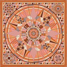 Scarf 70 Hermès   Rose de Compas
