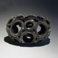 Figure-Eight Zipper Bracelet: Kate Cusack: Zippered Bracelet - Artful Home - very cool.