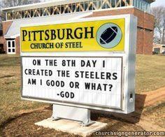 proof that God is a Steelers fan Steelers Meme, Steelers Football, Steelers Stuff, Football Cards, Here We Go Steelers, Steel Curtain, Pittsburgh Sports, Best Football Team, Steeler Nation