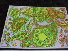 Pretty Pattern Postcards Artist - Beth Gunnell Media - Crayola,Lah De Dah,Scribblicious and Whsmith gel pens