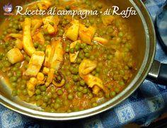 RICETTA SEPPIE CON PISELLI Come la preparo con la ricetta tradizionale. #gialloblogs #originalmarche #ricettedicampagna #marche #seppie #piselli