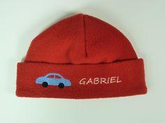Fleece Mütze Auto *mit Namen* von HEXEnART auf DaWanda.com