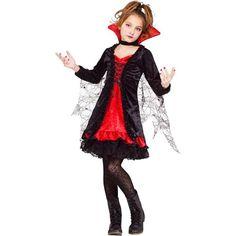 Fun World Girls Lace Vampiress Halloween Vampire Costume