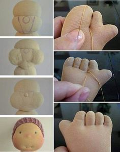 Inne tilda i jej towarzystwo – Artofit Padding for face structure. Cute handmade doll pattern instructions for sewing dolls fingers and toes. Sock Dolls, Felt Dolls, Doll Toys, Baby Dolls, Doll Crafts, Diy Doll, Sewing Crafts, Sewing Projects, Doll Clothes Patterns
