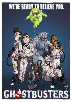 Ghostbusters cartoon art