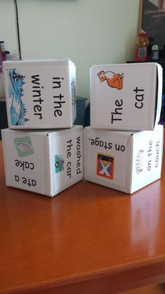 Make your own silly sentence dice craft freebie!