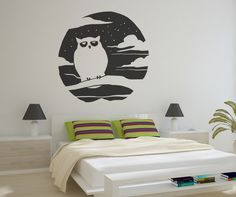 Vinyl Wall Decal Sticker Spooky Owl #OS_MB654