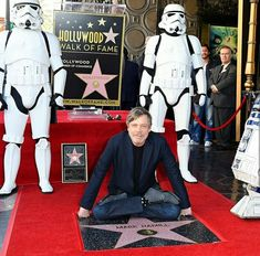 Mark Hamill got his star on the Hollywood walk of fame! So proud! Congrats!