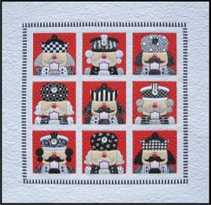 Quilt Inspiration: 'Tis the season: Nutcracker Quilt by Amy Bradley