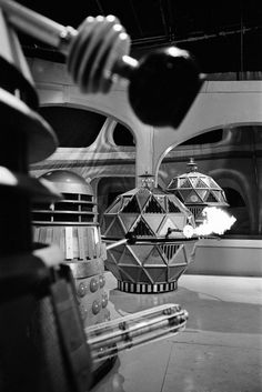 Doctor Who: 34 Dalek pictures from the archives - Wales Online Doctor Who Tv, Second Doctor, Doctor Who Companions, The Rouge, Tv Doctors, Sci Fi Comics, Sci Fi Tv, Bbc Tv, Dalek