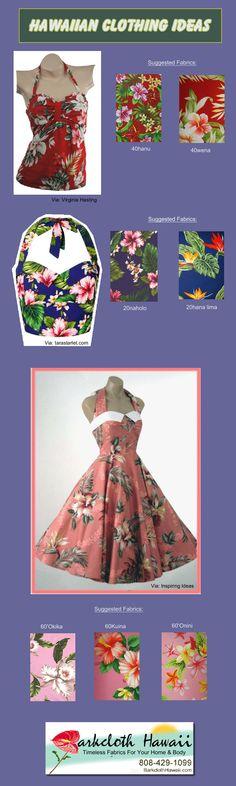Hawaiian Clothing ideas. Fabrics available from BarkclothHawaii.com