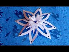 SNOWFLAKE #4, 3 layer snowflake, paper folding, Christmas star ornament, paper crafts - YouTube