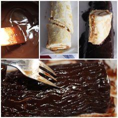 Cobertura de chocolate del Tronco de Navidad Dessert Recipes, Desserts, Sin Gluten, Pudding, Baking, Tableware, Cake, Ethnic Recipes, Christmas